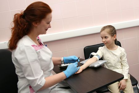 Забор крови у детей